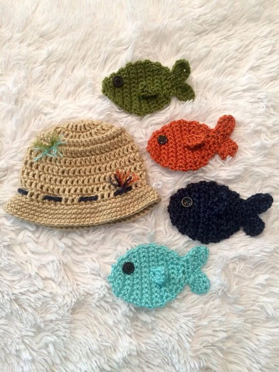 96a52ae013a Crochet Fisherman Hat Baby Fishing Hat Newborn by TwoBeanieBums Kids Winter  Hats