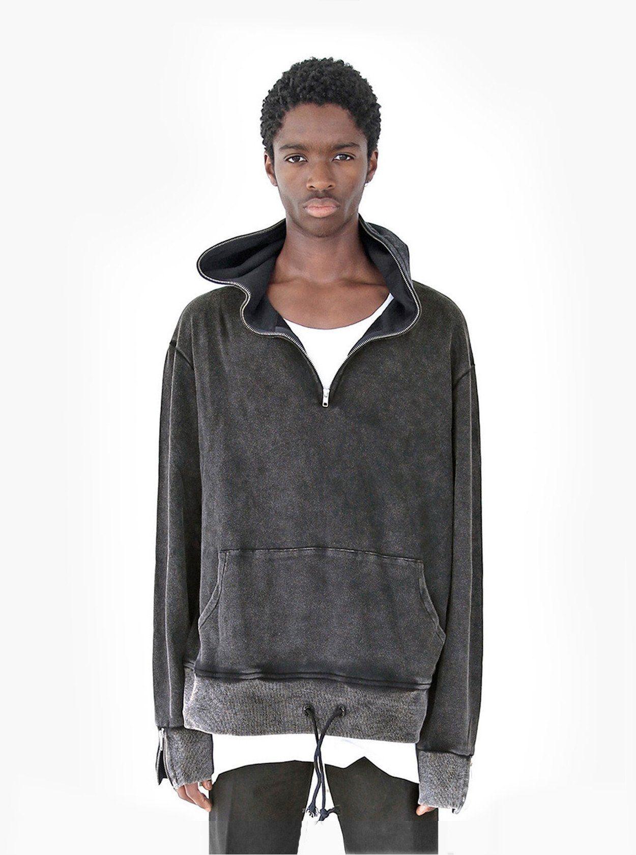 Profound Aesthetic Pigment Dyed Full Zip Hoodie In Faded Black 86 Hoodies Full Zip Hoodie Black Zip Ups