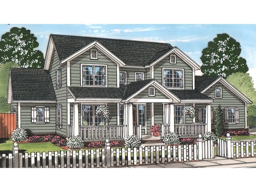 2 Story 2298 Square Foot Ready To Build House Plan From Builderhouseplans