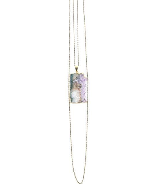Amethyst chain by Natalia Benson #gem #necklace #jewelry #stone #gold