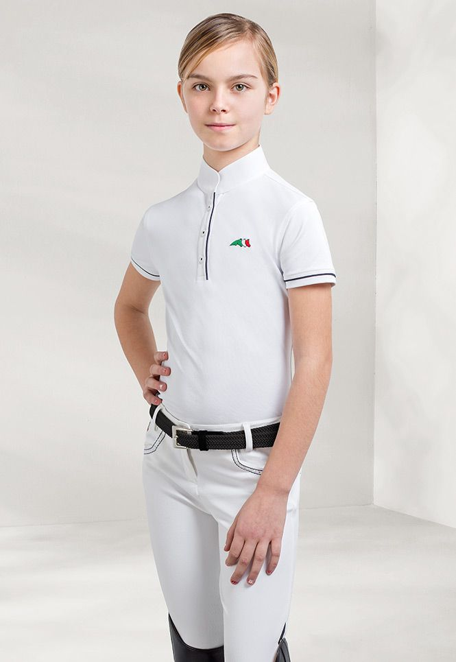 Selena- short sleeved #competition #polo #shirt Made with a technical fabric.