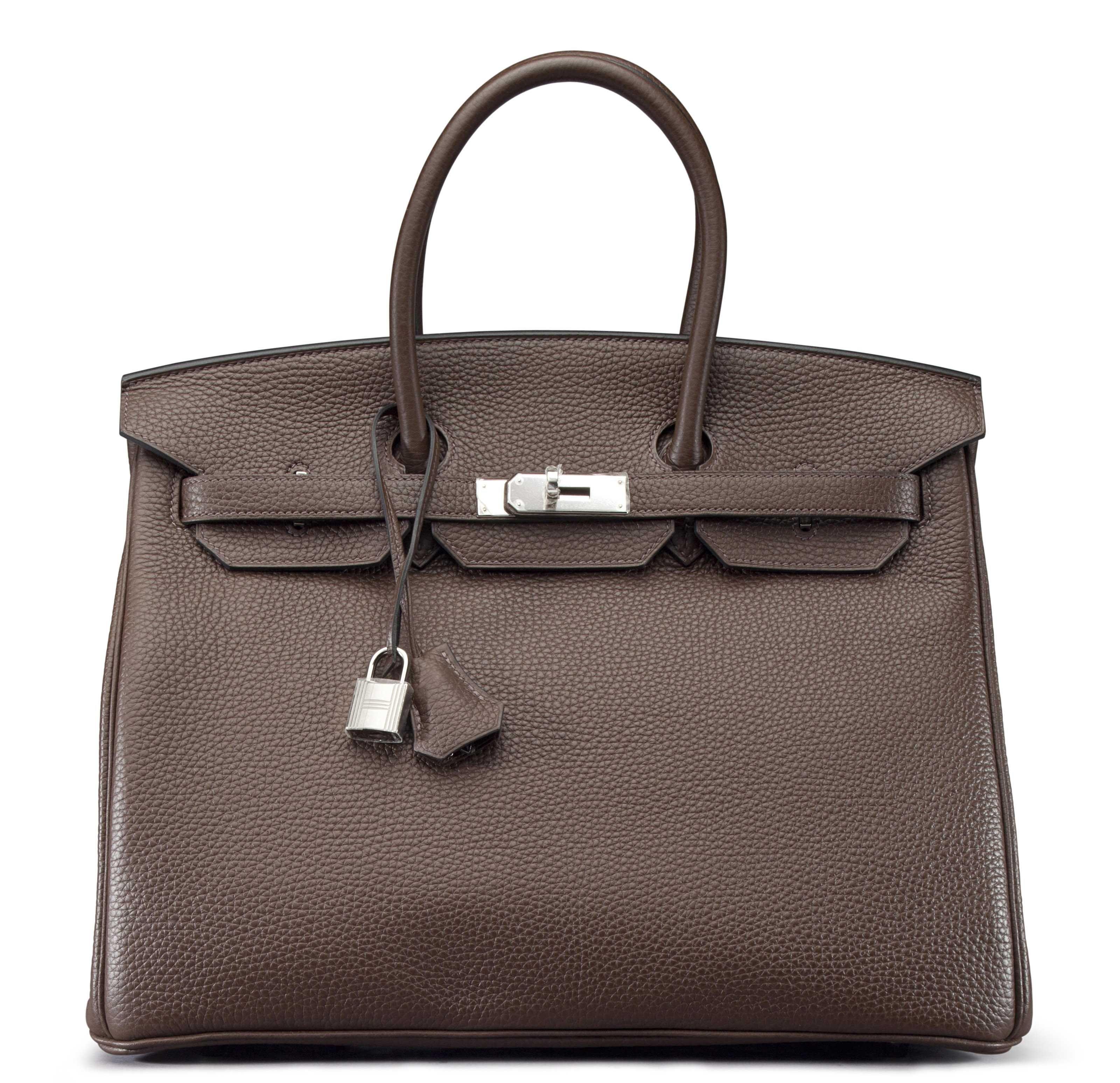 A 35cm Cocoan Clemence Leather Birkin Bag In 2019 Berkins