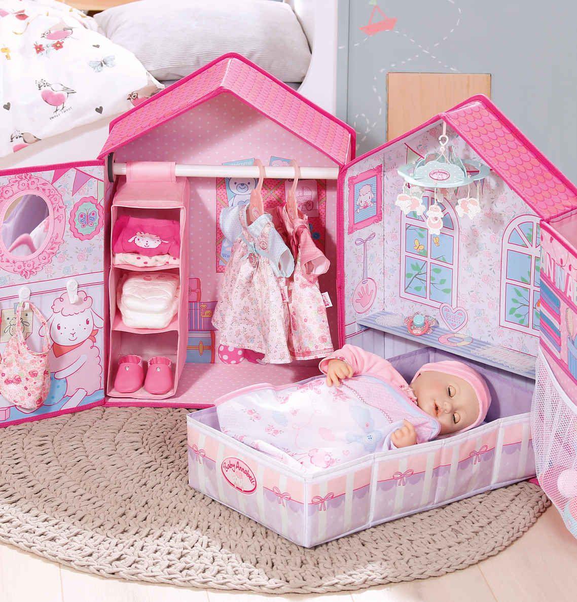 Baby Annabell ® Puppen Möbel Schlafzimmer pink | Baby ...