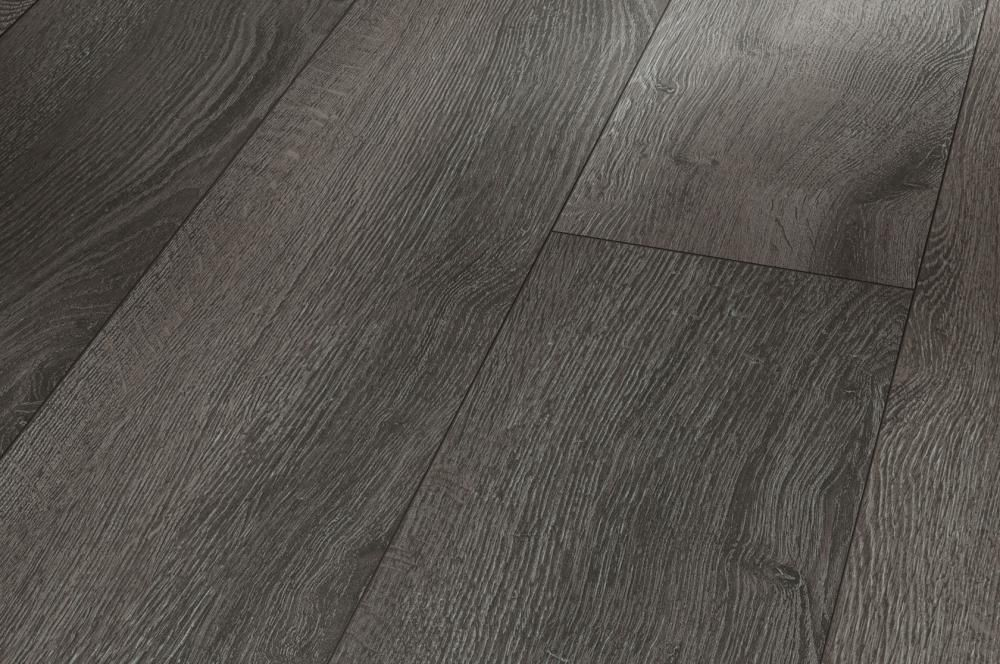 Laminate Flooring Basic 400 Oak Anthracite Wideplank Matt Texture 4