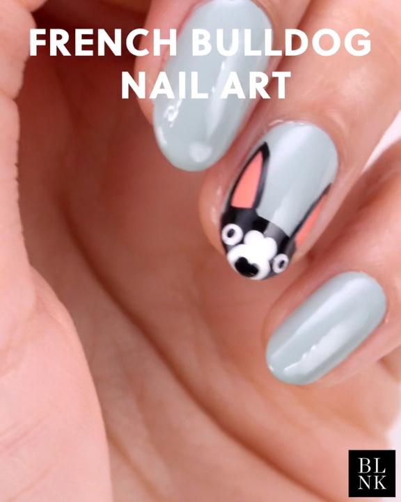 Photo of French Bulldog Nail Art Tutorial #nailart #nailartutorial #nailvideos #frenchbul…