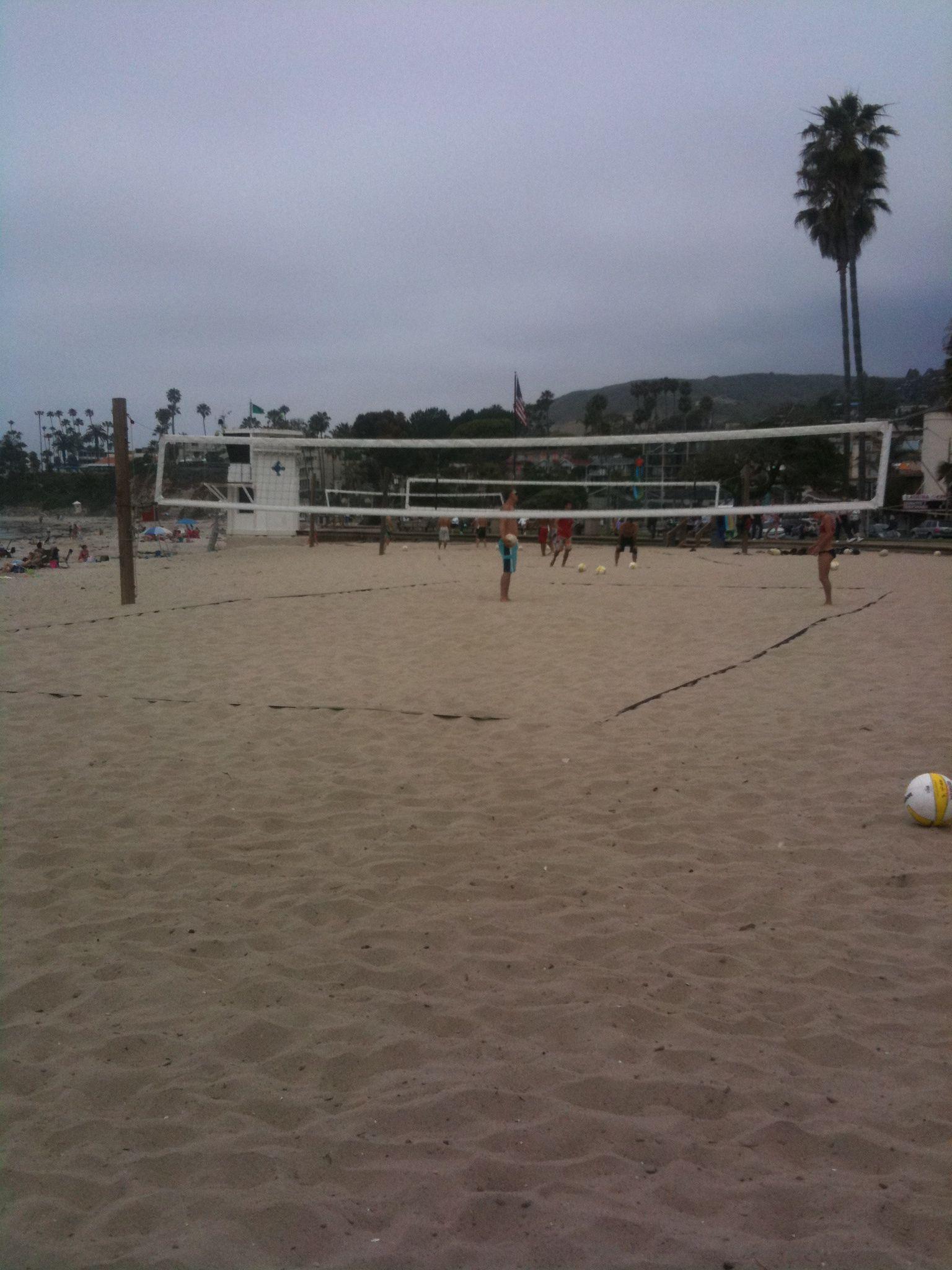 Iconic Southern California Laguna Beach Volleyball Court Beach Volleyball Court Laguna Beach Beach
