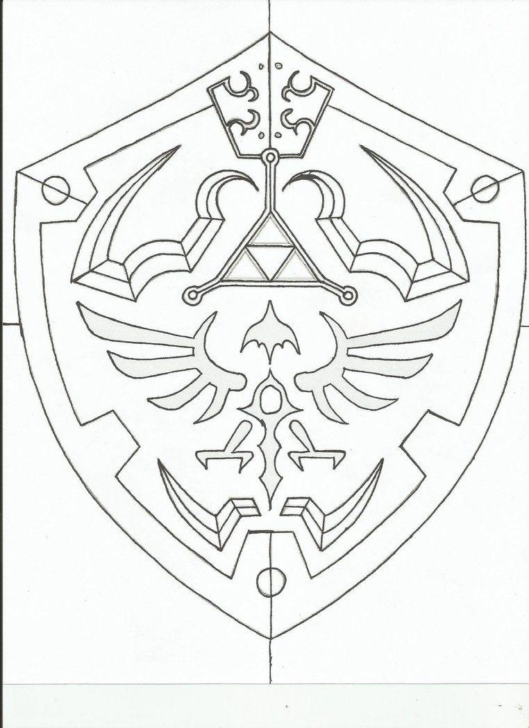 Hylian Shield template. by revandarque | zockzimmer | Pinterest ...