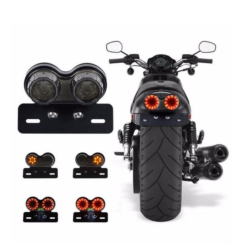 Motorcycle Turn Signal Brake Dual Motorbike LED Tail Light