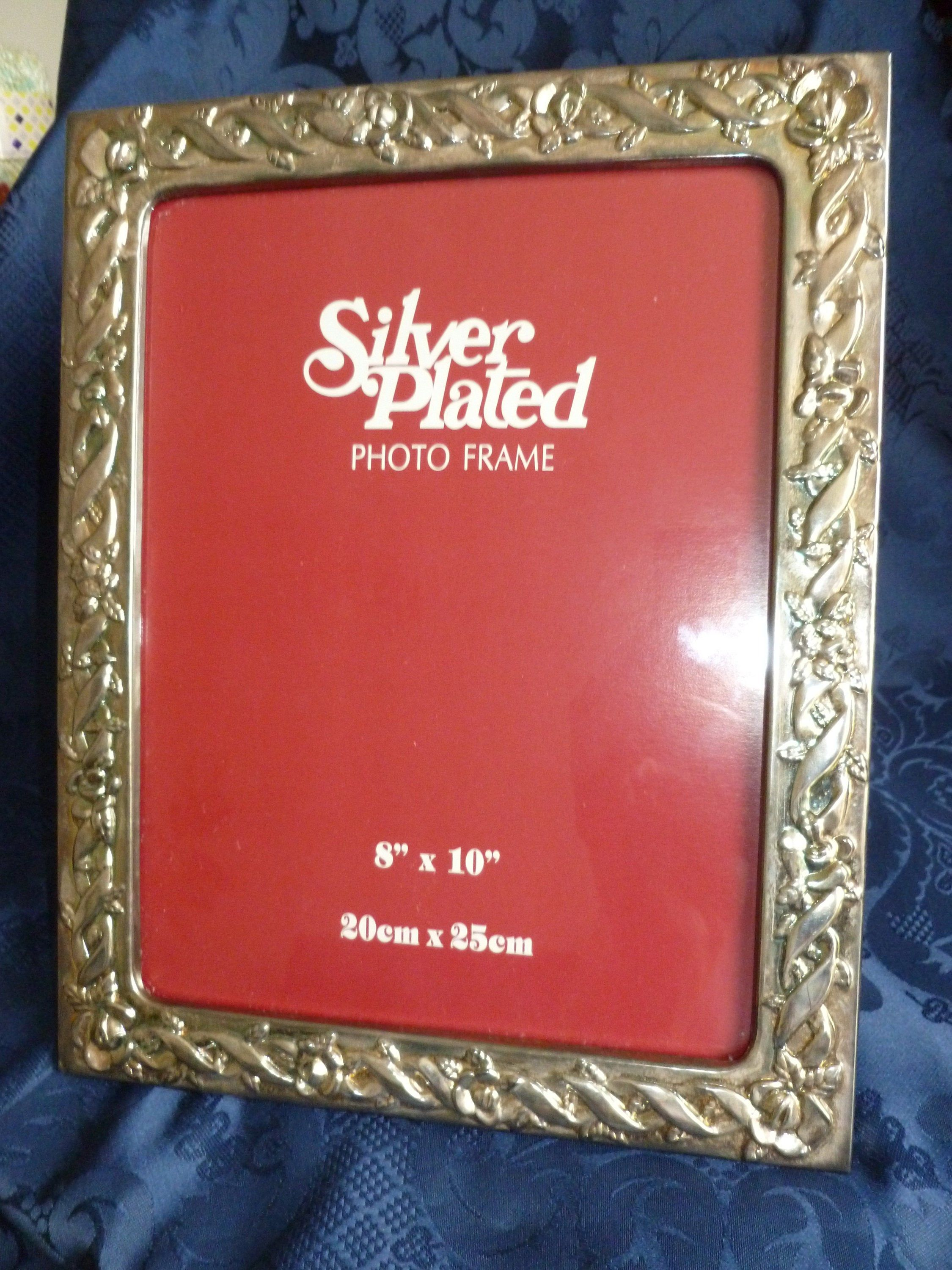 Vintage Silver Plated Photo Frame Picture Frame 8 X 10 Silver Wedding Gift Special Ocassion Gift Special Wedding Gifts Silver Wedding Gifts Photo Frame