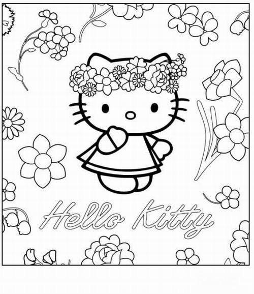 דפי צביעה להדפסה פרחים Hello Kitty Colouring Pages Hello Kitty Coloring Kitty Coloring