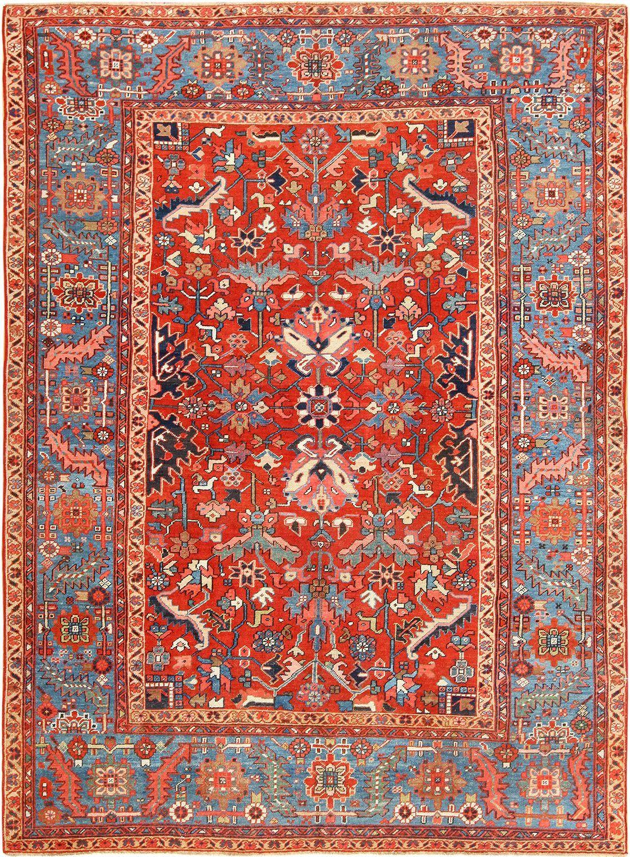 Antique Oriental Room Size Persian Heriz Rug 49395 Persian Heriz