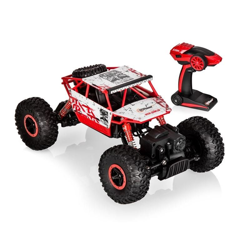 Top Race Remote Control Rock Crawler Rc Monster Truck 4wd Off Road Vehicle 2 4ghz Batteries Includ Monster Trucks Remote Control Trucks Remote Control Cars