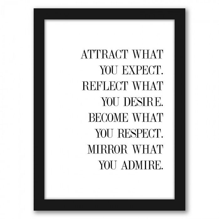 Americanflat Believe by Explicit Design Black Frame Wall Art