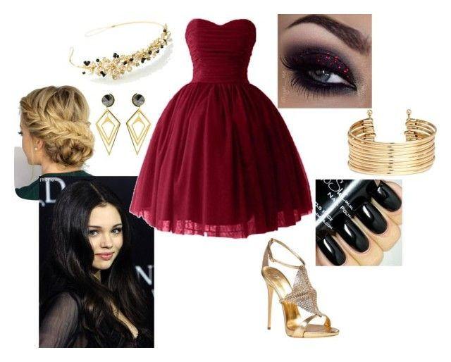 """Marissa, Auradon Party"" by paisely099 ❤ liked on Polyvore featuring Giuseppe Zanotti, H&M, Sarah Magid and disneydescendants"