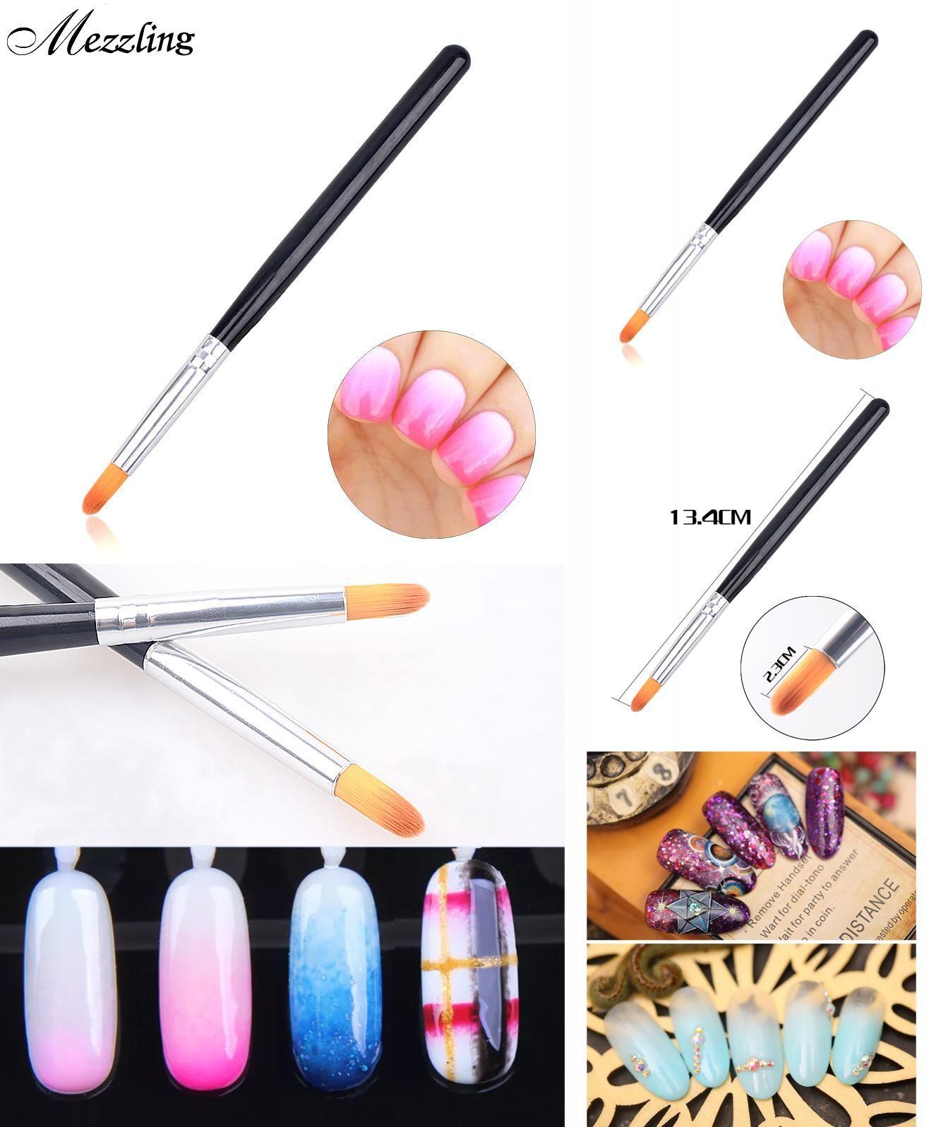 Visit To Buy New 1pcs Professional Gradient Blooming Nail Art Brush