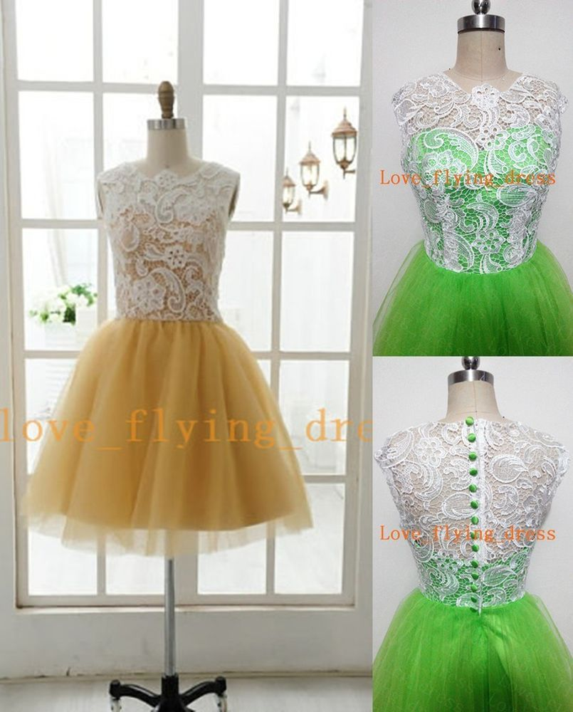 New short tulle bridesmaid prom dresses pageant homecoming formal