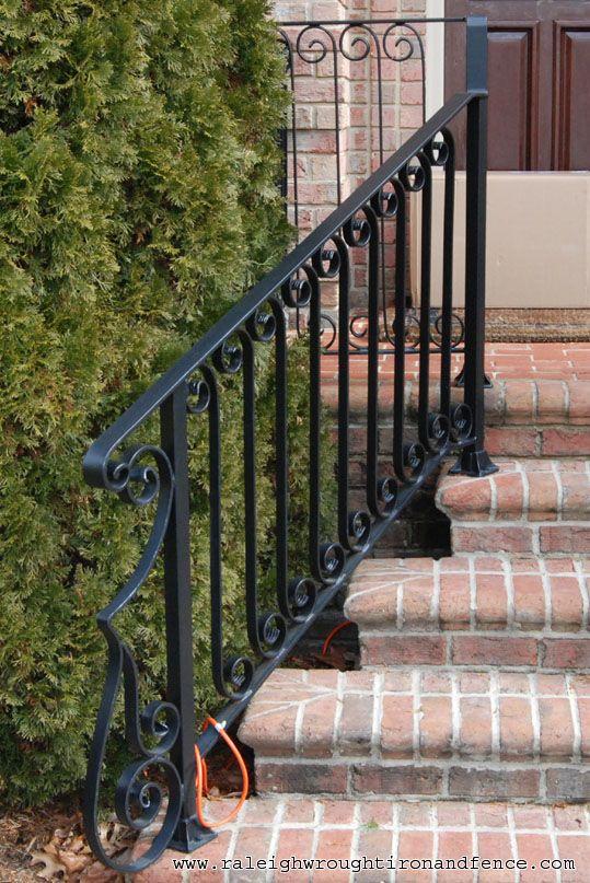 Greensboro Nc Custom Wrought Iron Railings Raleigh Wrought Iron Co | Wrought Iron Stairs Outdoor | Early 19Th Century | Iron Handrail | Mild Steel | Porch | Steel