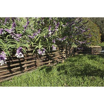 Bordure à planter tressée en bois coloris naturel h30 x l115 cm leroy merlin