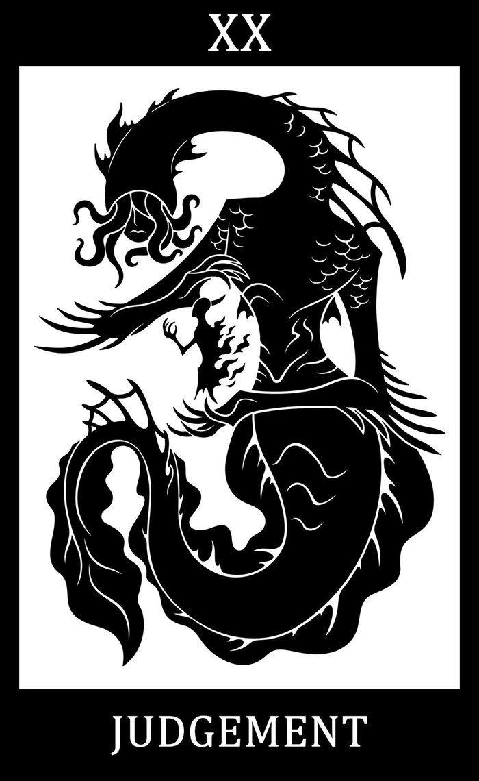 Bloodborne fanart, Bloodborne Tarot Cards  XX - Judgement