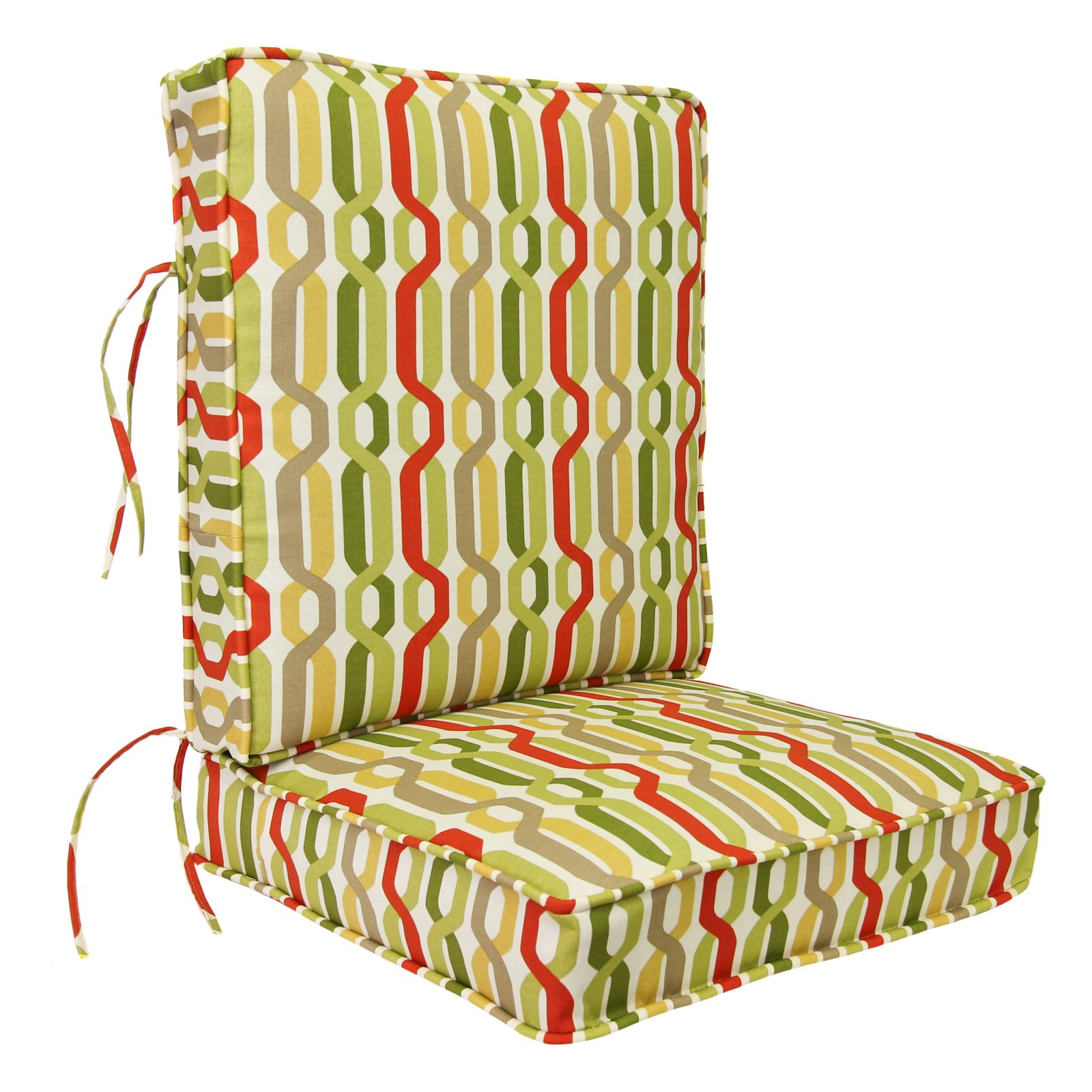 Jordan Manufacturing 24 X 22 5 In Outdoor Boxed Cushion With Cording A New Twist Seaweed