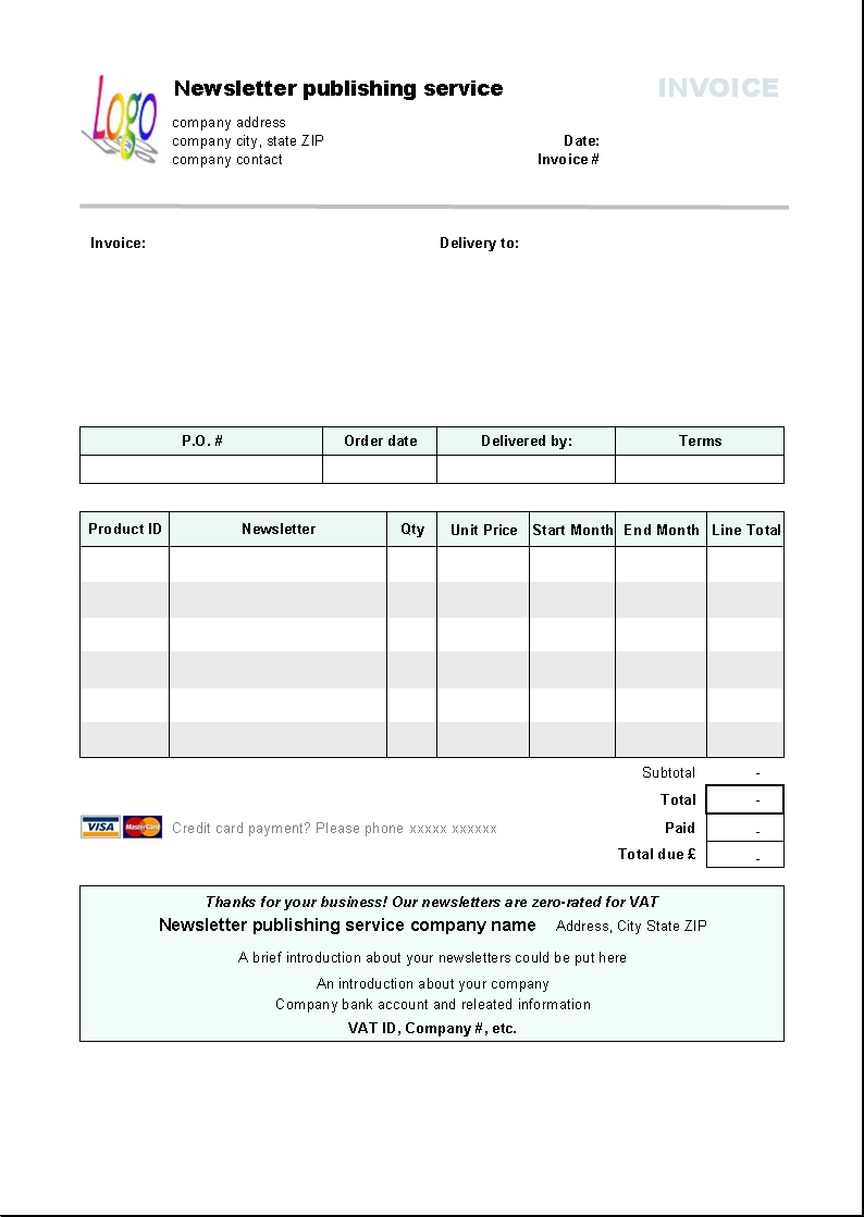 This Is Free Invoice Template Free Invoice Form Is Designed With - Free cake invoice template for service business