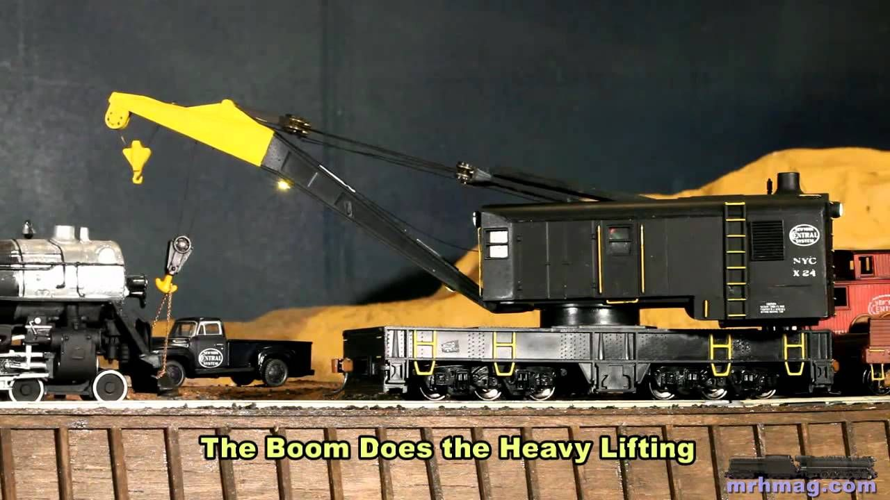 Animating an Athearn steam railroad crane in HO scale