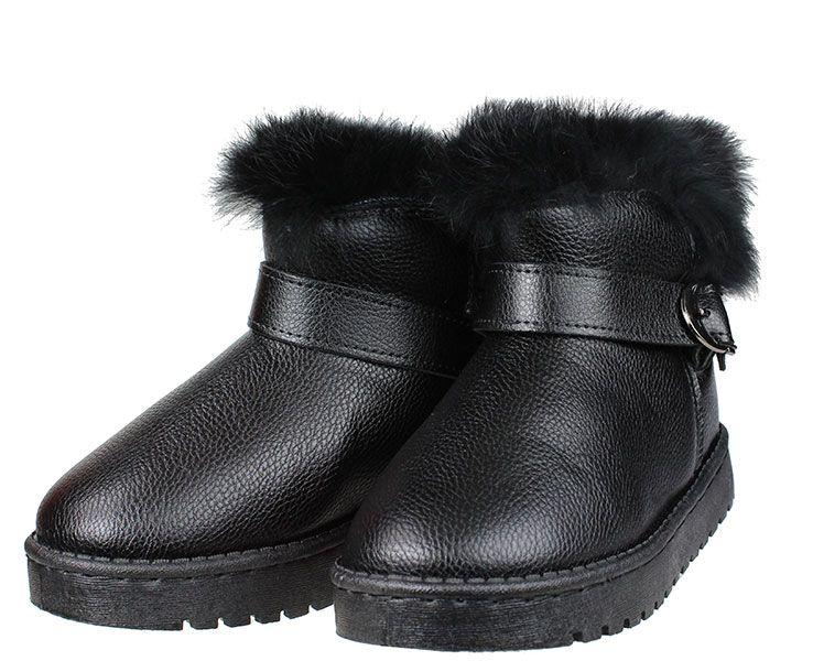 093104fe61e Παιδικά μποτάκια για κορίτσια EXE Kids σε απόχρωση μαύρο με εσωτερική  επένδυση συνθετική γούνα. ΥΛΙΚΟ