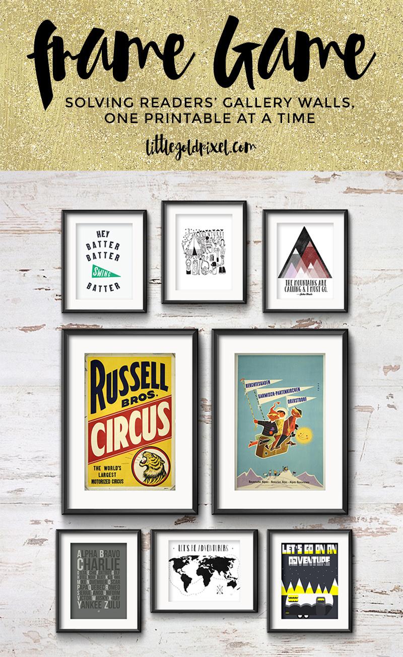 Little Gold Pixel Printable Gallery Wall Art Set | Gallery Walls ...