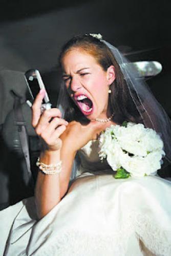 sposa arrabbiata