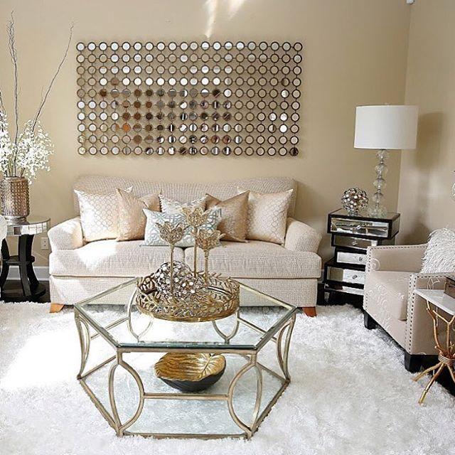 Modern Glam Living Room Decorating Ideas 19: 219 Likes, 2 Comments - Velvet Musings