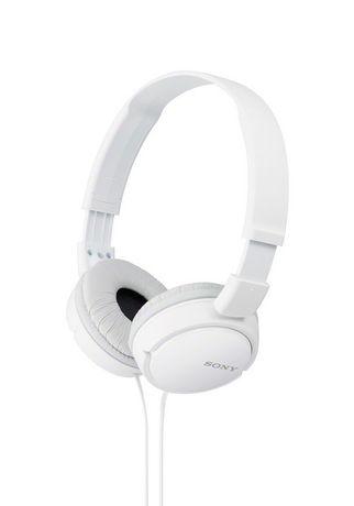 Sony Zx Series Stereo Over Ear Headphones White In Ear Headphones White Headphones Headphones