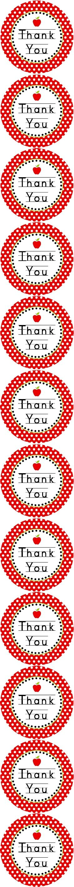free apple thank you tags for back-to-school or Teacher Appreciation {Dimple Prints}