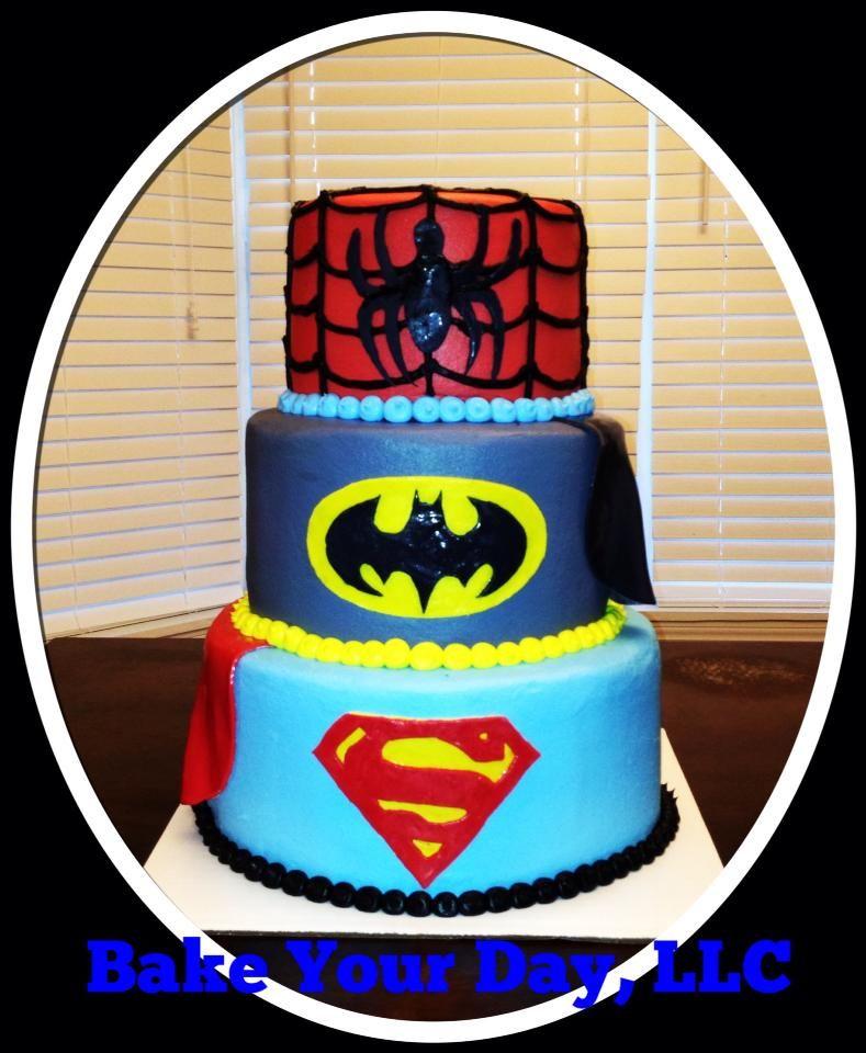 Super Hero Birthday Cake Bake Your Day, LLC - Alexandria, LA www.facebook.com/bakeyourdayllc (318) 229-0299 bakeyourdayllc@hotmail.com