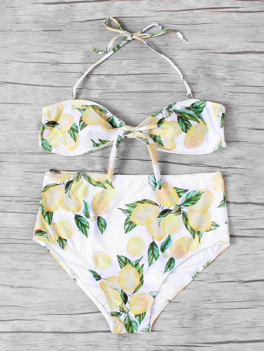 9ab6078e53 Knot Front Bandeau Bikini Set -SheIn(Sheinside) | Emily Petersen's ...