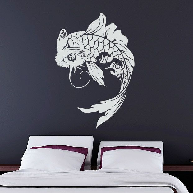Koi fish wall decal japanese vinyl sticker