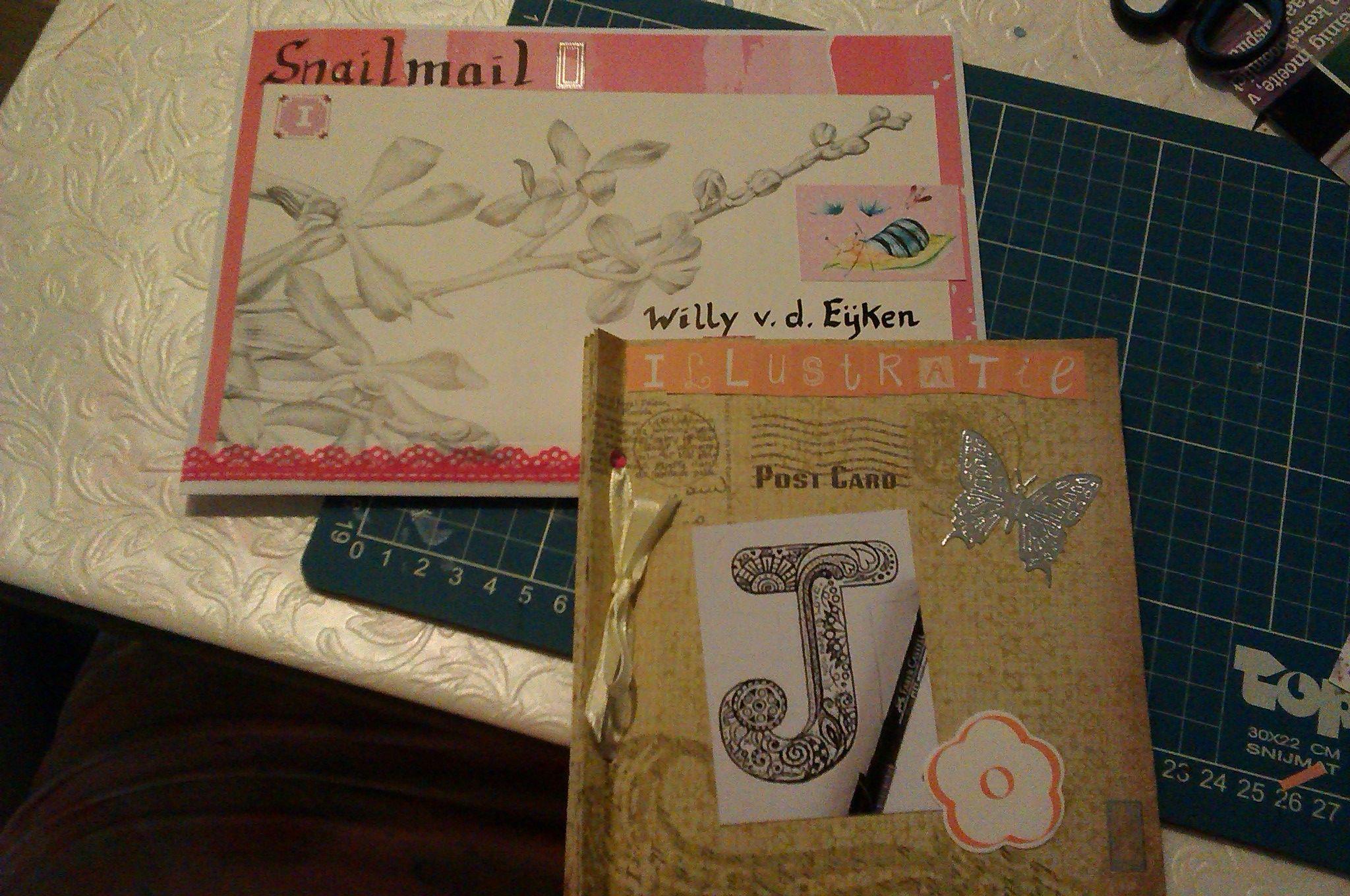 Abc snailmail gemaakt de letter i van illustraties