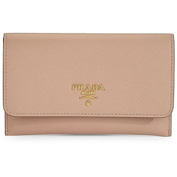 38323448db10 Prada Saffiano Leather Passport Holder And Card Case ($345) ❤ liked on  Polyvore featuring bags, wallets, saffiano leather wallet, snap bag, prada  wallet, ...