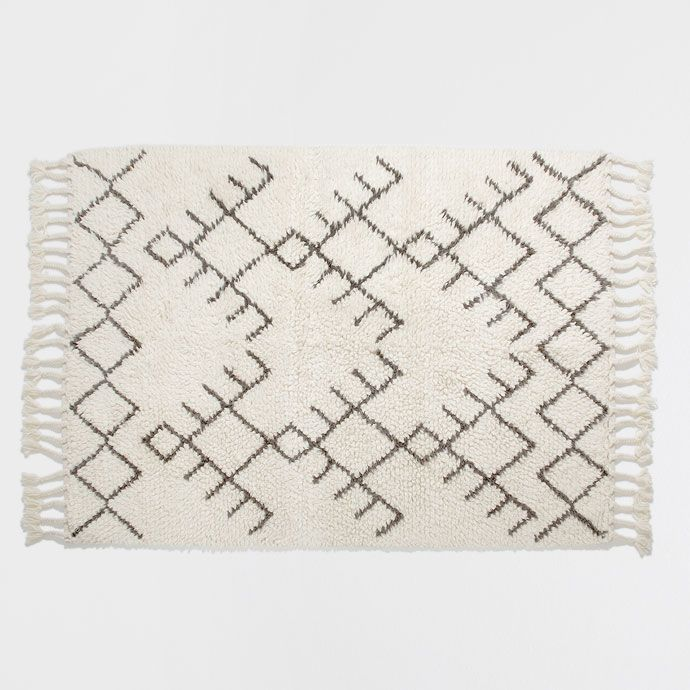 Zara Home Teppich wollteppich mit fransen teppiche dekoration zara home