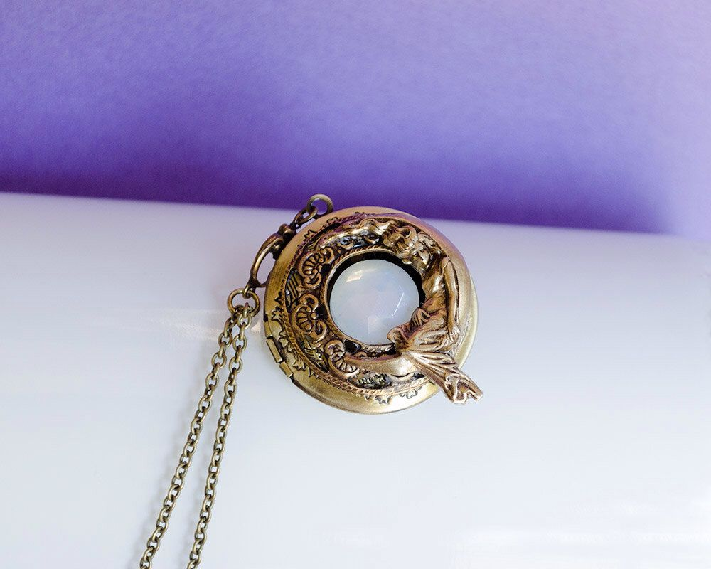 brass how lockets via necklace vintage pin secret locket message ball cute