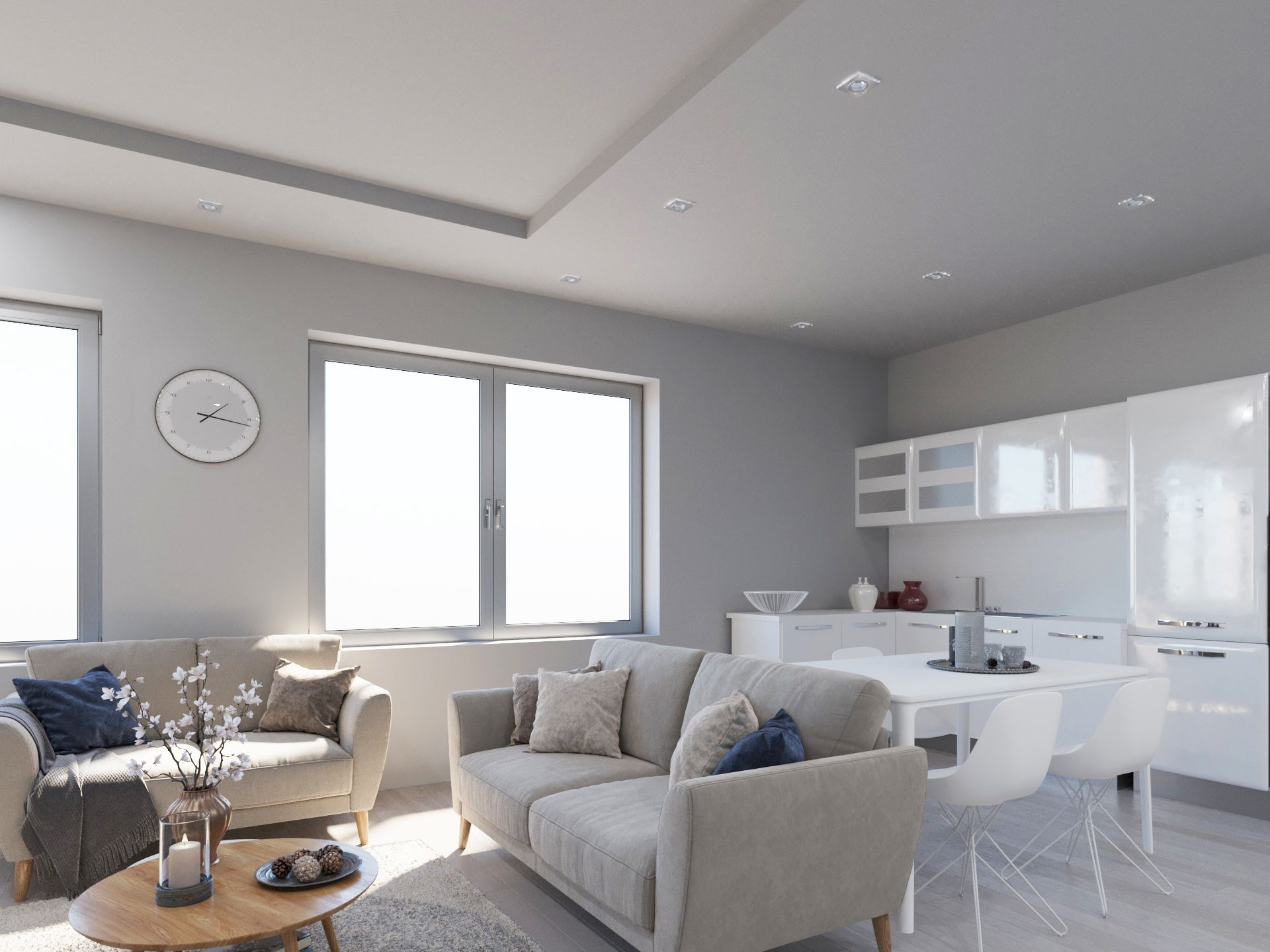 Jasna Kuchnia Polaczona Z Salonem Home Decor Furniture Home