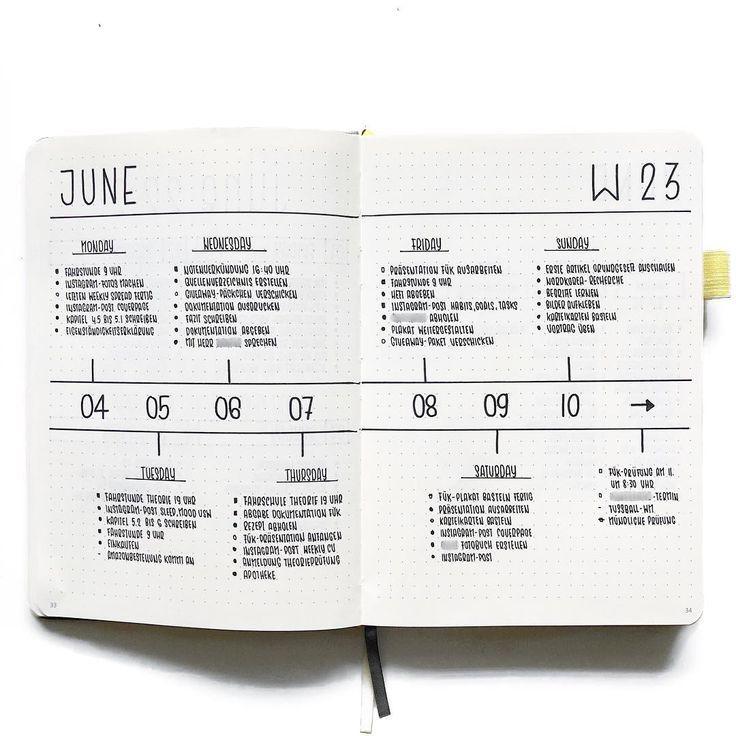 Découvrez ces spreads / layouts de journaux de balles simples et minimalistes