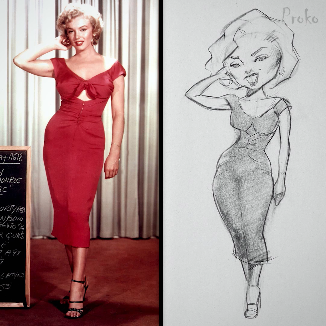 Photo of Drawing Marilyn Monroe