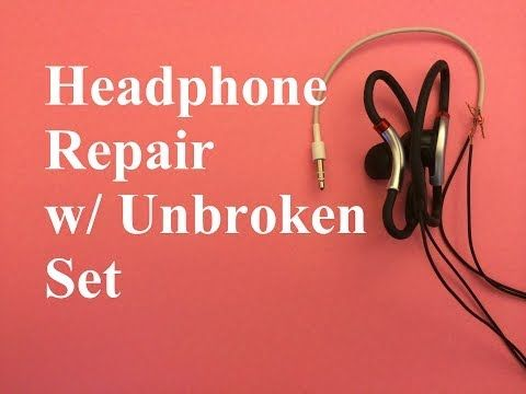 This video shows how to fix broken headphones (TRS Plug) using another Undamaged headphone set (TRS Plug).