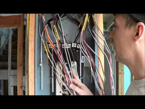 Terrific How To Wire An Electrical Panel Square D Youtube Good Ideas Wiring Cloud Usnesfoxcilixyz