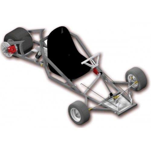 Go Kart Plans and Blueprints for SpiderCarts\' Scorpion Three Wheeled ...