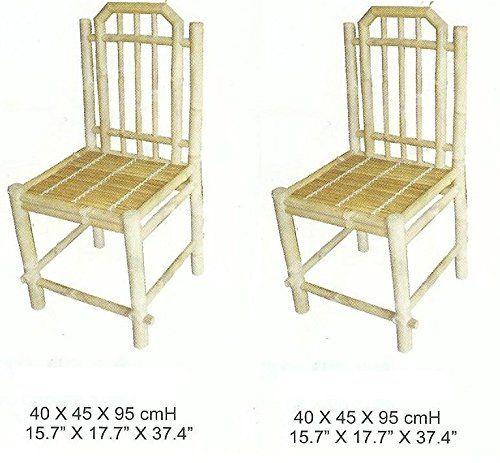 2 esszimmerstühle,bambusstuhl,holzstuhl | bambus stühle | pinterest, Esszimmer dekoo