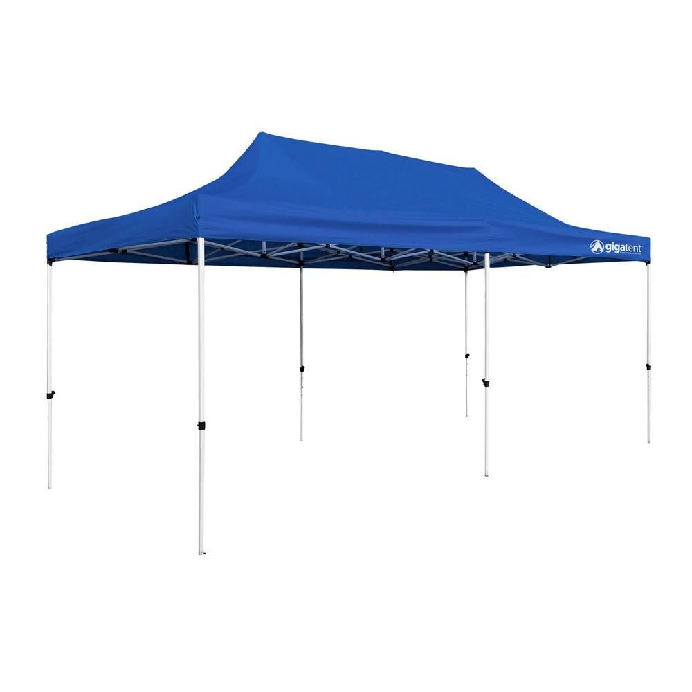 Gigatent Party Tent 10 Ft X 20 Ft Blue Canopy Canopy Tent Canopy Steel Frame