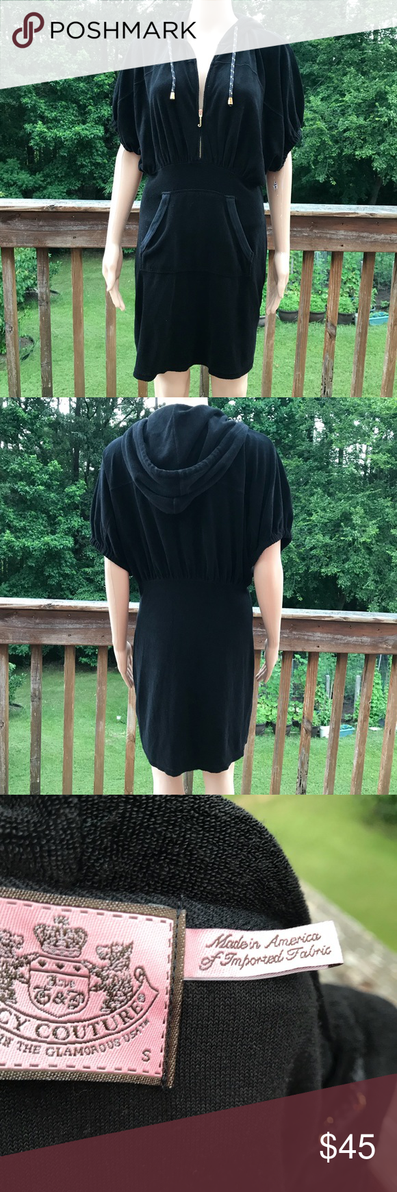 Juicy couture black towel dress cover up small in my posh