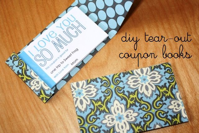 Make A Tear Out Coupon Book Make A Book Of Coupons Coupon Book Diy Coupon Book Diy Coupons