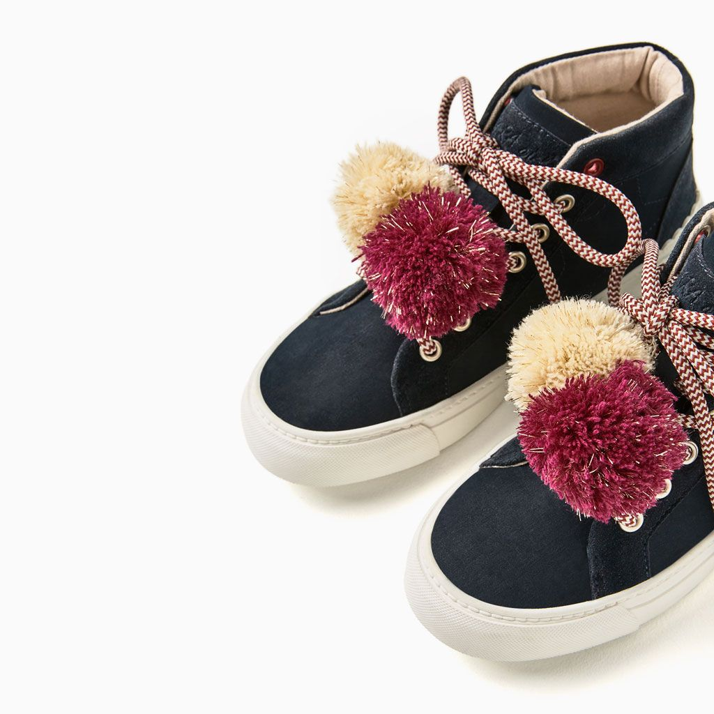 22d5f62816b POMPOM HIGH TOP SNEAKERS-NEW IN-GIRL | 4-14 years-KIDS | ZARA United States